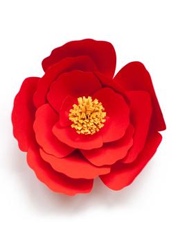 seamless paper craft flower